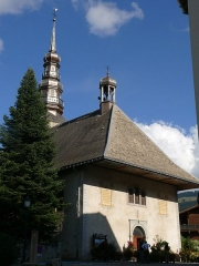 Eglise - English: Saint-Nicolas' church of Combloux (Haute-Savoie, Rhône-Alpes, France).