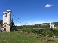 Pont suspendu de la Caille (également sur commune d'Allonzier-la-Caille) - Français:   Pont suspendu de la Caille, près de Cruseilles
