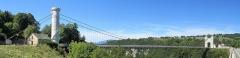 Pont suspendu de la Caille (également sur commune d'Allonzier-la-Caille) - Français:   Panorama du pont suspendu de la Caille, près de Cruseilles