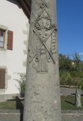 Croix de carrefour dite Croix de Verrières -  Croix située à Neydens (chef-lieu), en Haute-Savoie.