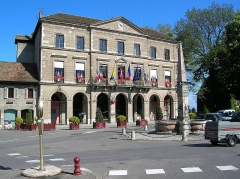 Fontaine - English: Town hall of Thonon-les-Bains, France.