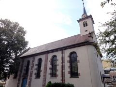 Eglise protestante -  Alsace, Bas-Rhin, Schiltigheim, Église protestante (PA00125226, IA67018001).