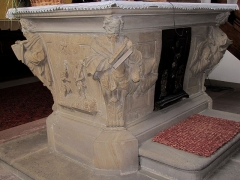 Eglise protestante - This object is classé Monument Historique in the base Palissy, database of the French furniture patrimony of the French ministry of culture,under the referencePM67000775.