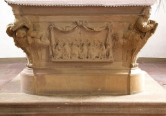 Eglise protestante - This object is classé Monument Historique in the base Palissy, database of the French furniture patrimony of the French ministry of culture, under the reference PM67000775.