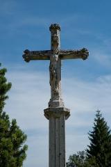 Croix de cimetière - Français:   Croix de Bouverans - détail
