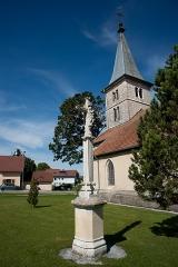 Croix de cimetière - Français:   Croix de Bouverans - église