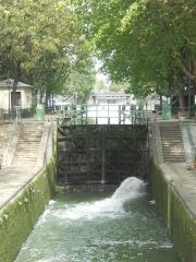 Canal Saint-Martin - Français:   Écluses, Canal St Martin