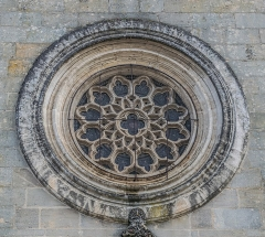 Eglise des Carmes ou église Saint-Thomas-Becket - English: Rose window of the Saint Thomas church of Figeac, Lot, France