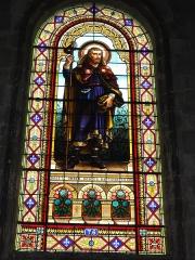 Eglise Saint-Vivien - English: Église Saint-Vivien de Saintes, vitrail 03, signature: G.P. DAGRAND BORDEAUX
