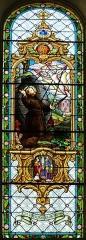 Eglise catholique Saint-Maurice - Alsace, Bas-Rhin, Église Saint-Maurice de Fegersheim (PA00132525, IA00023146).  Verrière de la nef