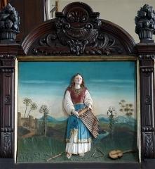 Eglise catholique Saint-Maurice - Alsace, Bas-Rhin, Église Saint-Maurice de Fegersheim (PA00132525, IA00023146).  Garde-corps de tribune (1888): relief