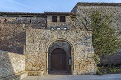 Château - English:  Saint-Félix-Lauragais.Castle Northwest facade and entrance porch. Thirteenth and fourteenth century.