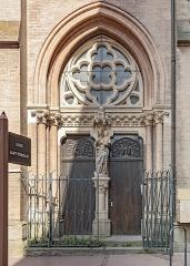 Eglise du Gésu - English:  Rue des Fleurs in Toulouse, N ° 22 bis entrance to the church of Gésu