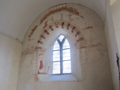 Eglise de Saint-Léger - Français:   église Saint-Léger, Manche Les fresques sont datées du XIIIe