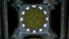 Eglise Sainte-Marie - Plafond de l'une des trois coupoles de l'église Sainte-Marie à Saint-Etienne, chef-lieu du département de la Loire