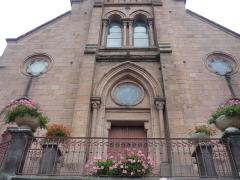 Eglise, située au bourg - Français:   Église Saint-Romain de Valsonne, dans le département du Rhône. Elle est inscrite au titre des monuments historiques depuis 1994.