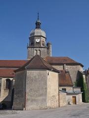 Eglise - English:   Back of the Saint-Amateur et Saint-Viateur de Saint-Amour church, in Saint-Amour, Jura, France.