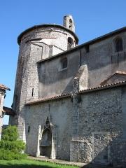 Cathédrale Notre-Dame de la Sède - Vue extérieure de la cathédrale Notre-Dame-de-la-Sède. Enfeu.