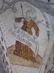 Cathédrale Notre-Dame de la Sède - Peinture de la voûte: une sibylle.