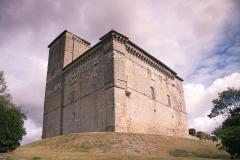 Château de Plieux -  Castle of Plieux. I like the creative use of tie rods here.