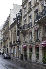 Théâtre de la Madeleine -  Théâtre de la Madeleine et Hôtel Alison, respectivement 199 et 21 rue de Surène, VIIIe arrondissement, Paris, France.