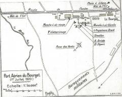 Aérogare du Bourget - Carte ancienne Port aérien du bourget 1920