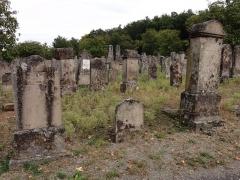 Cimetière juif -  Alsace, Bas-Rhin, Rosenwiller, Cimetière juif (PA00135148, IA00075623): Pierres tombales (XIXe).