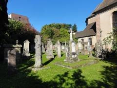 Ancien cimetière bourgeois -  Alsace, Bas-Rhin, Villé, Cimetière de l'Église Notre-Dame-de-l'Assomption dit «Cimetière bourgeois», rue René-Kuder (PA00135154, IA67010341).