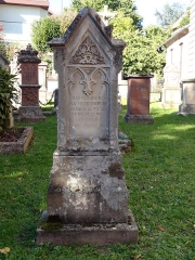 Ancien cimetière bourgeois - This object is indexed in the base Palissy, database of the French furniture patrimony of the French ministry of culture,under the referenceIM67013360.