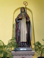 Eglise catholique Sainte-Odile - Français:   Alsace, Haut-Rhin, Église Sainte-Odile de Wintzfelden (PA00135161, IA68004402): Statue de Sainte-Odile.
