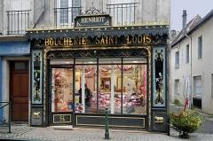 Immeuble -  Autun (Saône-et-Loire)  Boucherie Henriot rue Guérin.