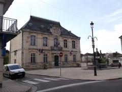 Statue de Napoléon et Hôtel de ville - Français:   Statue de Napoléon et hôtel de ville (Inscrit)