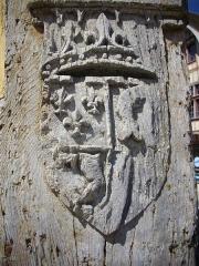 Maison dite du Dauphin - Français:   Maison dite du Dauphin, à Troyes (Aube, France): relief de blason
