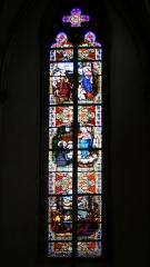 Eglise Saint-Amé - Français:   Vitrail, vu de l\'intérieur de l\'église Saint-Amé de Plombières-les-Bains