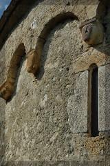 Chapelle d'Aulignac - Français:   Frise avec têtes sculptées
