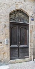 Maison médiévale - English: Door of the building at 31 rue Caviale in Figeac, Lot, France