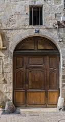Demeure - English: Door of the building at 47 rue Gambetta in Figeac, Lot, France