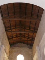 Eglise Saint-Christophe - Le plafond de la nef de l'église Saint-Christophe de Vindelle, Charente, France.