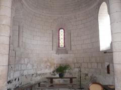 Eglise Saint-Christophe - Le chœur de l'église Saint-Christophe de Vindelle, Charente, France.