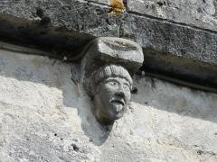 Eglise Saint-Christophe - Modillon de la façade occidentale, église Saint-Christophe de Vindelle, Charente, France.