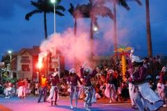 Place de l'Esplanade, dite place des Palmistes - Français:   Durant le carnaval de Cayenne