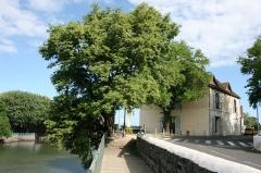 Entrepôt Kerveguen - Français:   Vue de l\'entrepôt Kerveguen en surplomb de la Rivière d\'Abord, à Saint-Pierre de La Réunion.