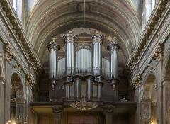 Ancien prieuré de la Daurade - English:  Gallery organ, By  Emile Poirier et Nicolas  Lieberknecht (organbuilders) 1862  Basilica of Notre-Dame de la Daurade in Toulouse.