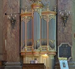 Ancien prieuré de la Daurade - English:  Choir organ, By Eugène Puget (1881) and Jean Daldosso (1993).Basilica of Notre-Dame de la Daurade in Toulouse.
