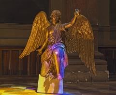 Ancien prieuré de la Daurade - English:  Basilica of Notre-Dame de la Daurade in Toulouse. Angel statue, in gilded wood, by Jean-Louis Ajon, 1812.