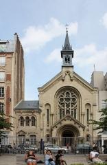 Eglise luthérienne de Bon-Secours - Français:   Adolphe Augustin Rey (architecte, 1864-1934): Église luthérienne du Bon-Secours (1895/1896), 20 rue Titon à Paris.