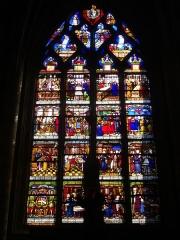 Pont sur l'Ource - Vitrail de l'église de la Madeleine de Troyes (Aube, France)