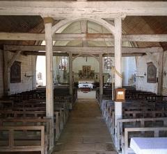 Eglise - Nederlands: Géraudot (departement Aube, Frankrijk): binnenzicht van de Sint-Petrus-en-Pauluskerk
