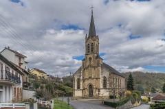 Eglise du Gua - English: Church of Notre-Dame du Gua in Aubin, Aveyron, France