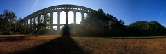 Aqueduc de Roquefavour (également sur commune d'Aix-en-Provence) - This building is indexed in the Base Mérimée, a database of architectural heritage maintained by the French Ministry of Culture,under the reference PA13000037 .